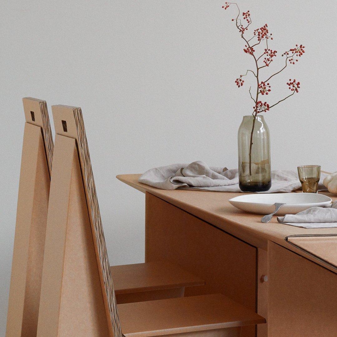 """Tisch Aus Pappe stange design on twitter: """"#allesauspappe: tisch tabula rasa & stuhl"""