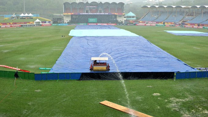 The rain needs to have stopped by 19:57 for us to have any chance of play. #WT20 #bbccricket Photo