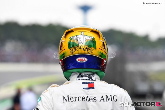 .@LewisHamilton no se fía de su Pole: Ya se ha visto lo rápido que es Ferrari - #F1 #BrazilGP 🇧🇷 Photo