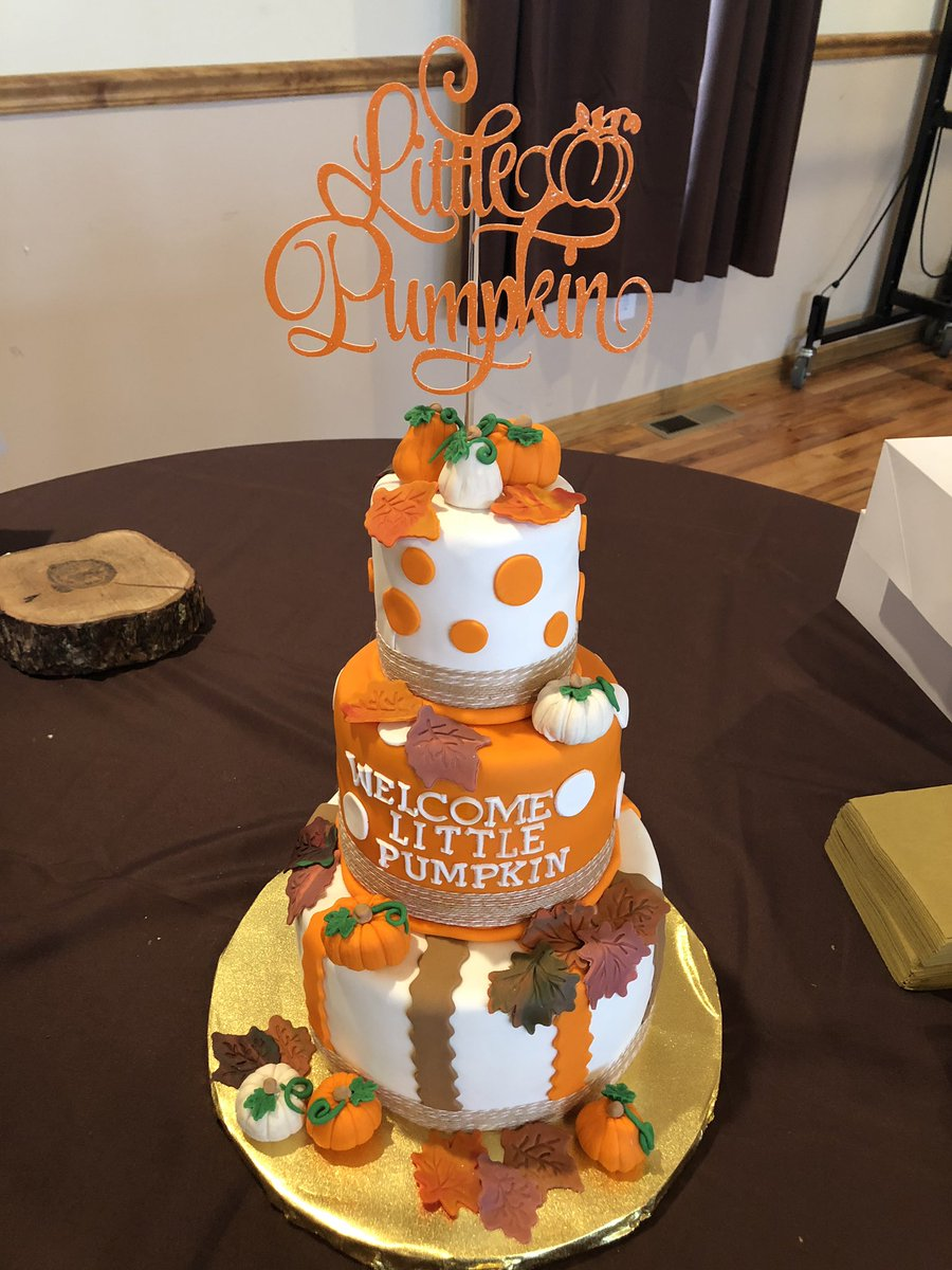 Monicaa On Twitter Happy To Make This Pumpkin Themed Baby Shower