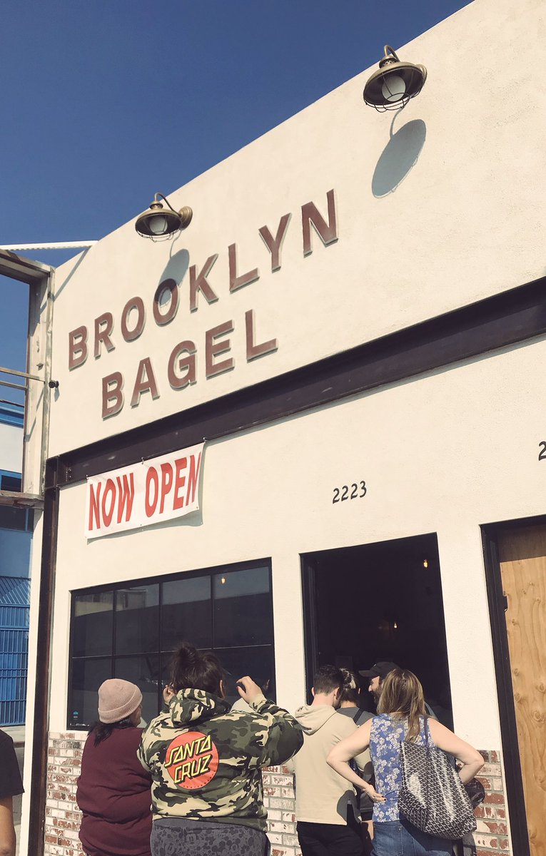 Brooklyn Bagel has re-opened here on Beverly due to a fire back in 2015. Best bagels in Los Angeles. #brooklynbagels