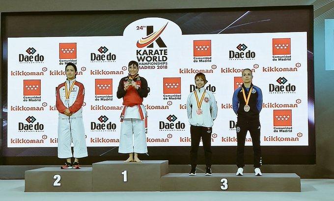 ¡Enhorabuena, @sandrasankarate! Por tu constancia, por tu valentía, por creer en ti y no rendirte nunca. Te lo mereces como nadie. 🥇👏 @EFEdeportes #KarateMadrid2018 Foto