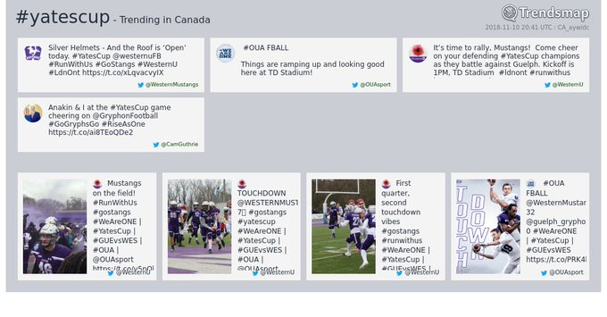 #yatescup is now trending in Canada Photo