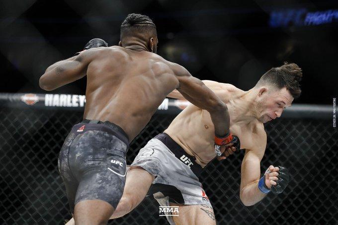 Damn, @K_O_E_KINGKAGE! A 46-second KO! #UFCDenver (@allelbows) Foto