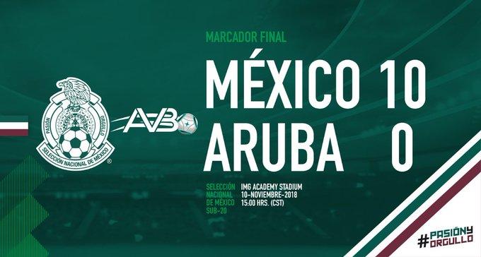 #PorSiTeLoPerdiste   México #Sub20 golea a Aruba y avanza en Premundial de futbol. >> Foto