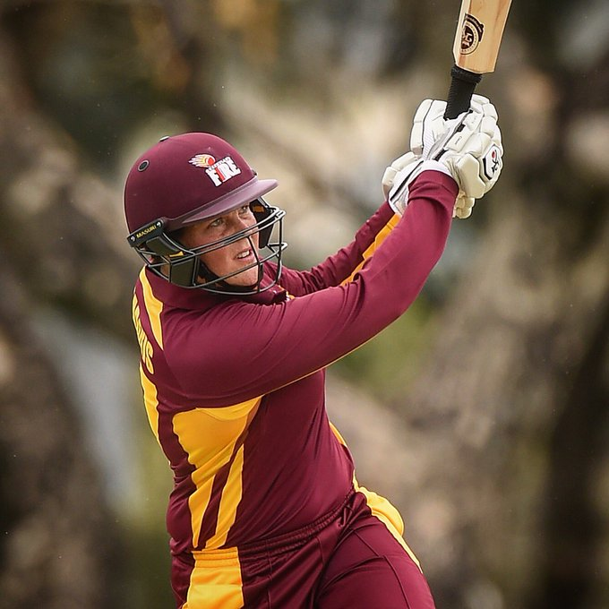 .@189Grace goes massive with 162 (112) against SA! 💪 #MaroonGrownHeroes #WNCL Photo