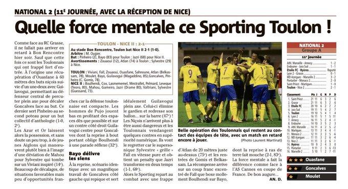 Quelle force mentale ce @sportingtoulon #national2 #toulon Photo