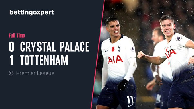 Juan Foyth scores the winning goal for Tottenham against Crystal Palace a week after conceding two penalties on his Premier League debut. #CRYTOT Photo