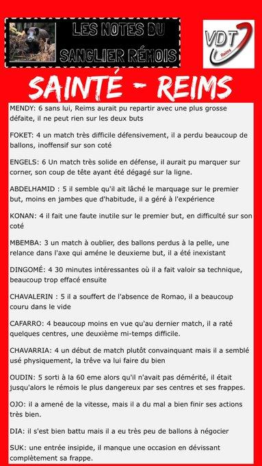 🔴⚪️📊 Sainté - #Reims | #ASSESDR : Les notes du Sanglier Rémois ! Photo