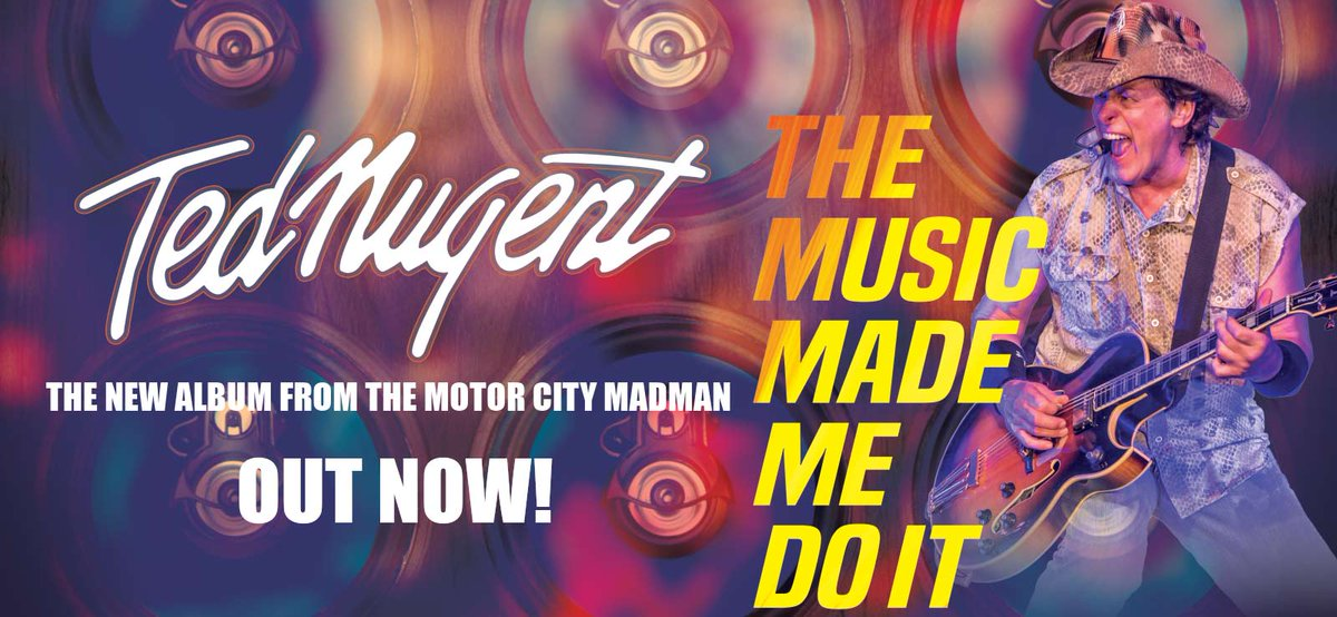 The Music Made Me Do It is OUT NOW!  Stream it on Spotify: https://open.spotify.com/album/4YrQdoy5MamEeJmRQAoxZ5……  Buy it on iTunes: http://smarturl.it/TheMusicMadeMeDoIt…  Buy it on http://TedNugent.com: https://store.tednugent.com/