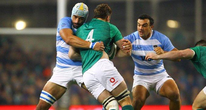 #Rugby #IREvARG ¡En todos lados! Lavanini fue uno de los abanderados en defensa y aportó 21 tackles para Los Pumas ante Irlanda. Photo