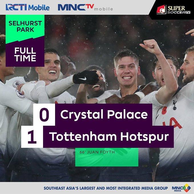 Fulltime Gol Tunggal Juan Foyth membawa Tottenham Hotspurs menang atas Crystal Palace. Bagaimana menurut kamu jalannya pertandingan? @mysupersoccer #SUPERSOCCERTV Photo