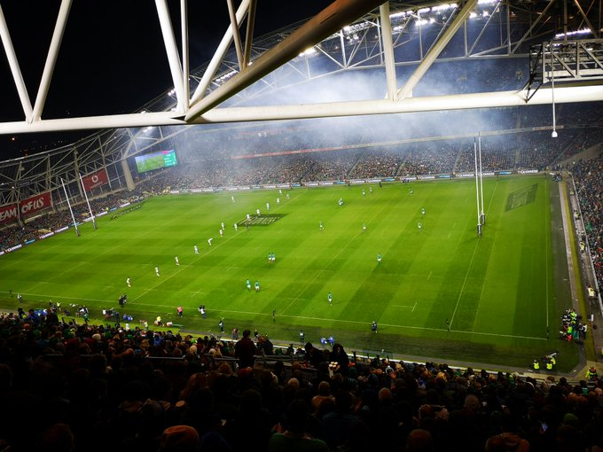 Thanks to the brother for tickets to #IREvARG but at this height I think I was nearer the pitch when I was on my couch 🤣🤣 Photo
