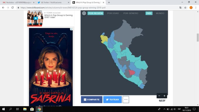 Siempre detesté Lima :( Lo de celeste es #SuperJunior @SJofficial Votennnnn! ;) ภาพถ่าย
