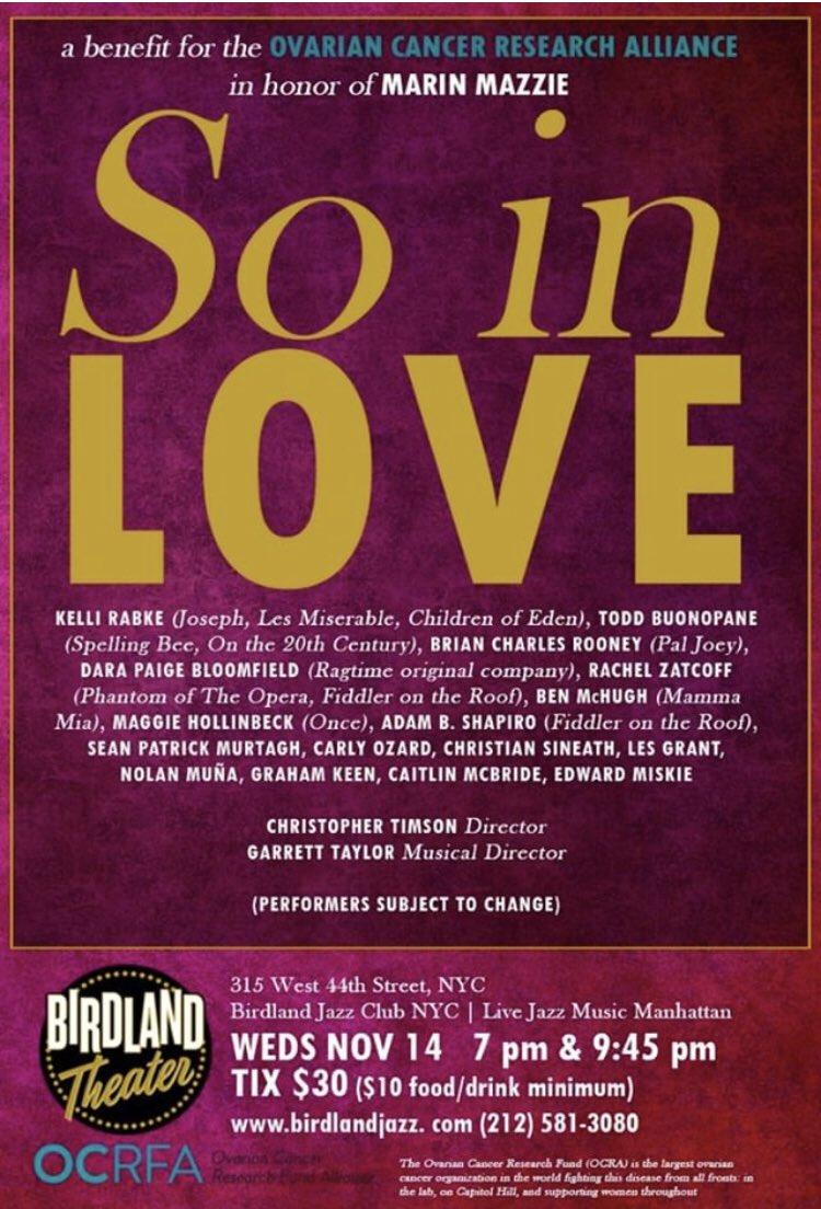 Next Wednesday, November 14th, @birdlandjazz to honor Broadway's Marin Mazzie. Maybe @SethRudetsky might come (or maybe retweet??) @EdwardMiskie<br>http://pic.twitter.com/WupgyhHaFg