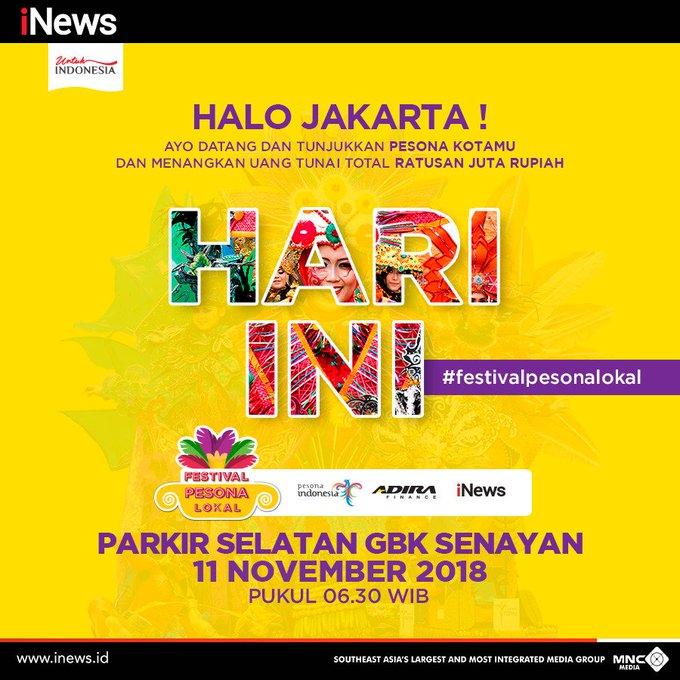 Yuk warga Jakarta, jadilah saksi kemeriahan #festivalpesonalokal hari ini. Ayo segera datang ke Parkiran Selatan GBK Senayan bersama keluarga teman dan sahabat. Acara masih akan berlangsung sampai sore hari ini. Photo
