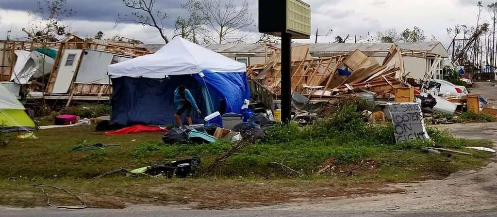 @fema &amp; @realDonaldTrump  It is November 10th, exactly one month since #HurricaneMichael. These are HUMAN BEINGS, LIVING in TENT CITIES. They have nowhere to go. It's getting cold. When will these people receive some #help? This is heartbreaking &amp; unacceptable. #fail #Panamacity<br>http://pic.twitter.com/3ScxQwbGtA