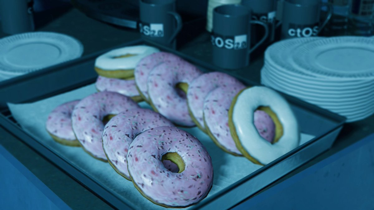 No YOU'RE meant to be writing a game accessibility report but are taking macro photos of donuts #a11y #photomode