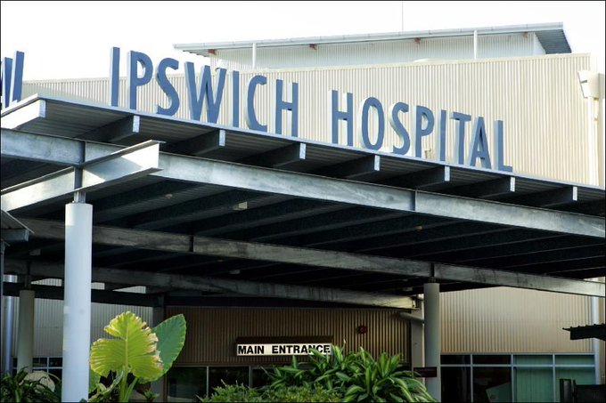 #update A female police officer shot dead a 28yo man during a violent struggle at Ipswich Hospital Photo