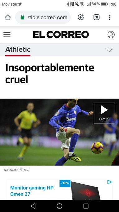 Con Jon Agiriano citando a @bradpittbull666 en su crónica de hoy para explicar la derrota del @AthleticClub me explota un poco la cabeza #athlive Foto