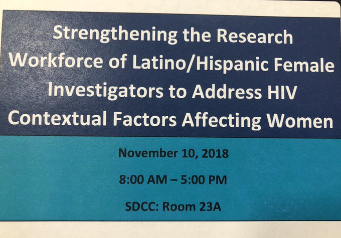 Spent the day at a pre-meeting to @APHAAnnualMtg focused on Strengthening the workforce of Latina/Hispanic female investigators to address HIV. A fantastic workshop organized by my good friend Carmen Zorrilla @UPR_Oficial Foto