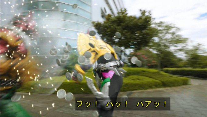 むっちゃセルメダル出てくる #nitiasa #仮面ライダージオウ Photo
