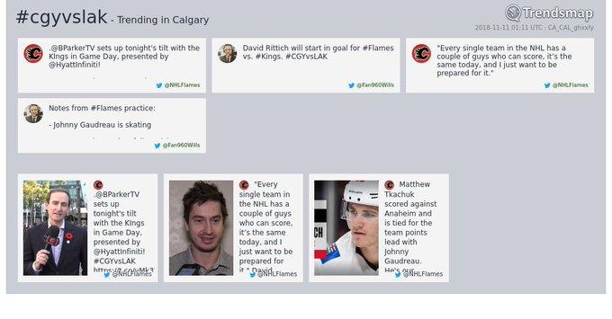 #cgyvslak is now trending in #Calgary Photo