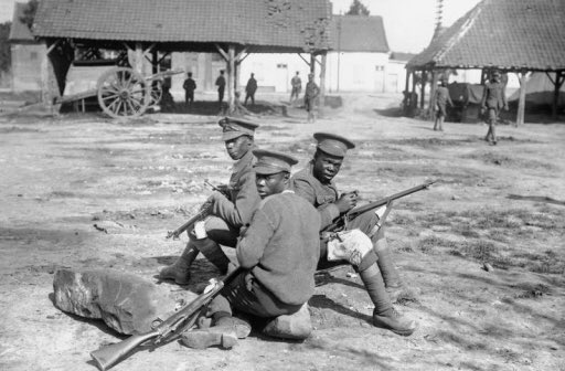 Men of the British West Indies Regiment cleaning their rifles, Albert-Amiens Road, September 1916, courtesy of the Imperial War Museum. #ArmisticeDay100 #LestWeForget Photo