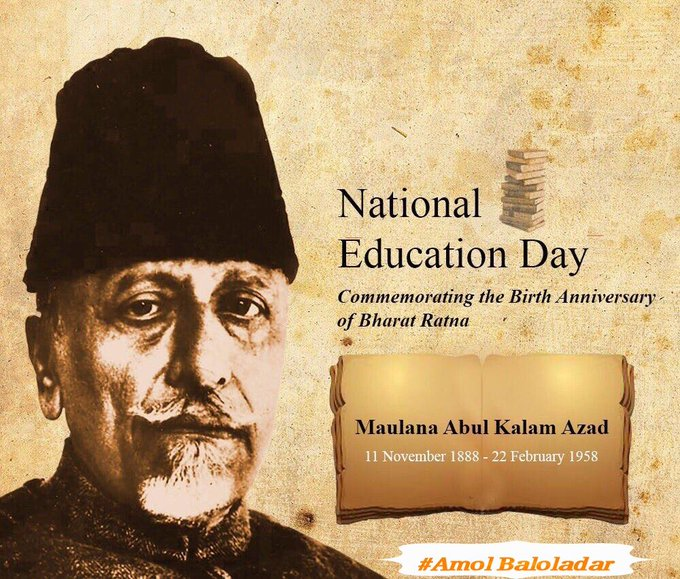 On his birth anniversary, tributes to #MaulanaAzad, freedom fighter, scholar and India's first Education Minister. In his honour, we celebrate November 11 as National Education Day 🙏🙏 #NationalEducationDay 🇮🇳 Photo