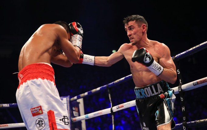 I would like to congratulate a great warrior @ant_crolla for his win tonight over Daud Yordan. Hoping to see you holding the @WBABoxing belt in the near furure. Photo