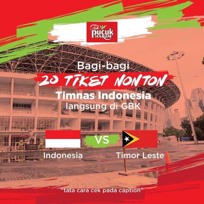 Mau nonton langsung pertandingan Indonesia Vs Timor Leste di Stadion Gelora Bung Karno? Kuy, ekspresikan dukungan kamu kepada Timnas Indonesia! 😎⚽🇮🇩 10 Foto terbaik akan mendapatkan masing-masing 2 Tiket VIP Nonton Timnas Indonesia di GBK 🏆⚽🇮🇩 👉 Photo