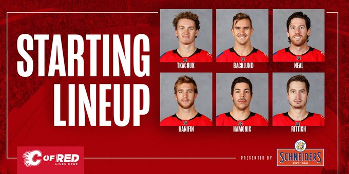 Your #CGYvsLAK starters, presented by our friends at @Schneiders! Photo