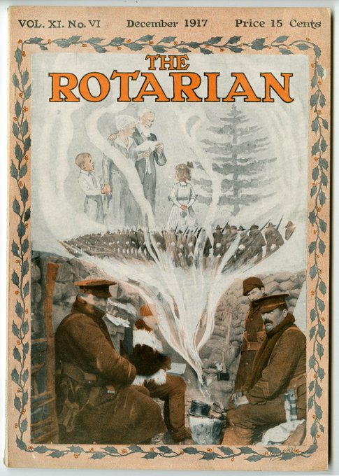 """At the 1914 #Rotary Convention, just before the onset of World War I, delegates called for Rotary to """"lend its influence to the maintenance of peace. The Rotarian magazine kept members informed of wartime & post-war challenges to peace. #ArmisticeDay100 Photo"""