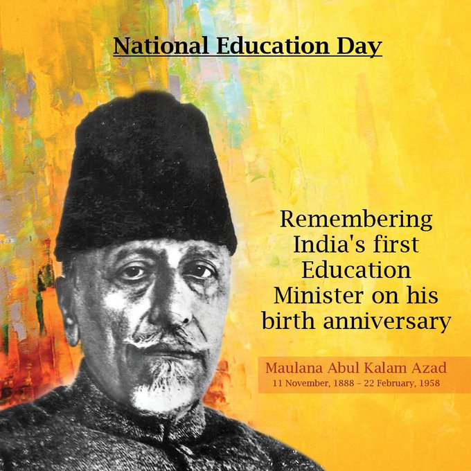 #NationalEducationDay So Glad that we had an educated statesman as our first Education Minister. Thanks to @PUNditNehru #MaulanaAbulKalamAzad Photo