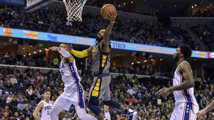 NBA: Mike Conley scores 32 points sending Grizzles past 76ers in OT Photo