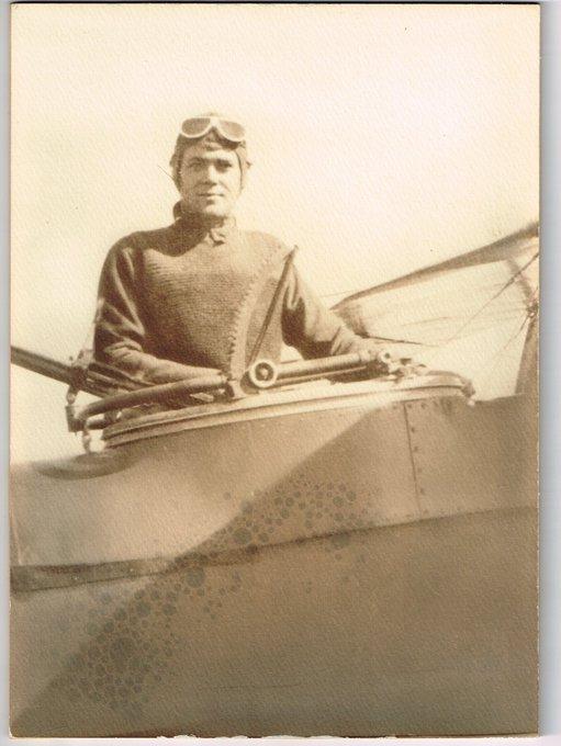My grandfather, a pilot in WWI. #ArmisticeDay100 #Aviator Photo