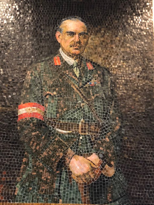 Sir John Monash. Mosaic at Prahran RSL following Victoria Park Remembrance Day commemoration. Joined by ⁦Kelly O'Dwyer, Katie Allen at Vic Park. 100 yrs since Monash led Australian Victories in France that won the Great War #ArmisticeDay100 #springst Photo