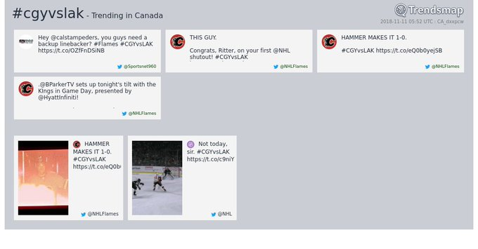 #cgyvslak is now trending in Canada Photo