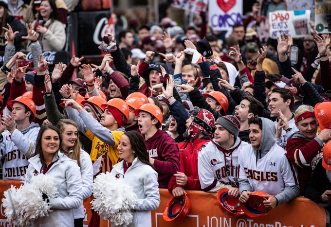 Boston College was electric all day. Thank you BC fans! #WeAreBC🦅 Photo