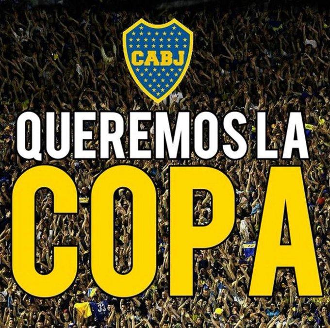 Siempre y cuando el tiempo lo HOY JUEGA BOCA 💙💛💙 #QueremosLaCopa 🏆 Foto