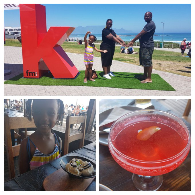 Our first F was a bit wonky but cute. Come find the red K at Eden On The Bay today and you could win great prizes! #kfmloveskaapstad Photo