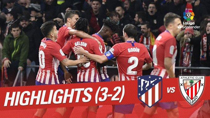RESUMEN #AtletiAthletic | Espectacular partido en el @Metropolitano que decidió @diegogodin en el descuento 📹 Lo más destacado del duelo ➡ #beINLaLiga Foto