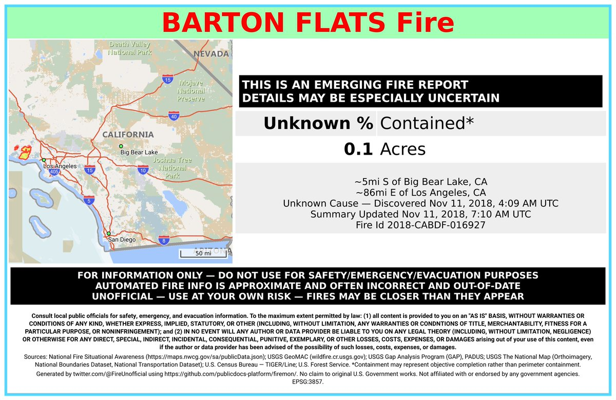 Big Bear Lake Fire Map.Wildfire Bot Unofficial On Twitter Bartonflatsfire