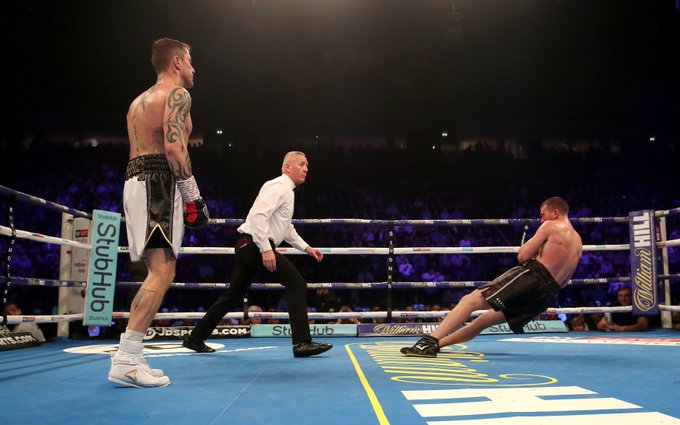 Ex-champ Carl Froch urges Lytham boxer Scotty Cardle to retire after devastating defeat by Ricky Burns Photo