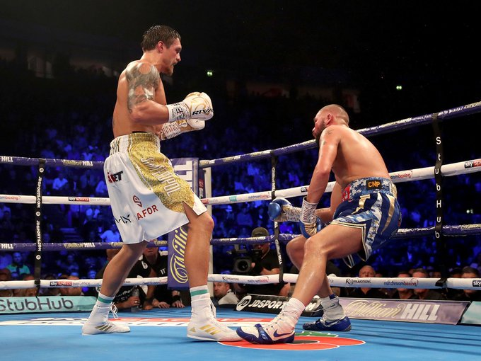 Tony Bellew brutally knocked out by Oleksandr Usyk to bring the curtain down on his boxing career in defeat By @lukedbrown Photo