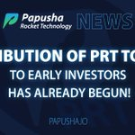 Image for the Tweet beginning: Distribution of #PRT tokens to