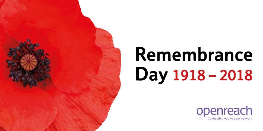 RT @WeAreOpenreach: Lest We Forget. #RemembranceDay2018 https://t.co/x17ZUpvmb4