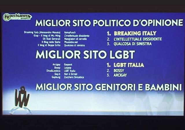Congratulazioni a @LGBTitalia_it per la vittoria di ieri ai #MIA18 come Miglior Sito LGBT 🌈 L'intera redazione ci tiene a ringraziare di cuore tutti coloro che ci hanno votato, regalandoci il secondo posto. Continueremo ad impegnarci a costruire il web che meritate. Foto