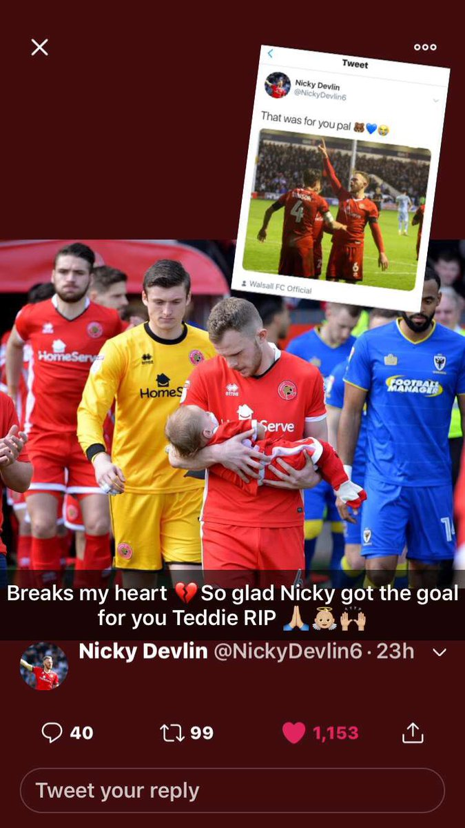 Breaks my heart 💔 So glad @NickyDevlin6 got the goal for you Teddie rest easy 🙌🏼👼🏼