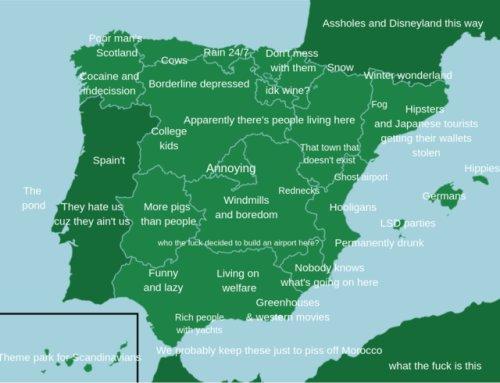 Kids Map Of Spain.Onlmaps On Twitter Stereotype Map Of Spain Https T Co